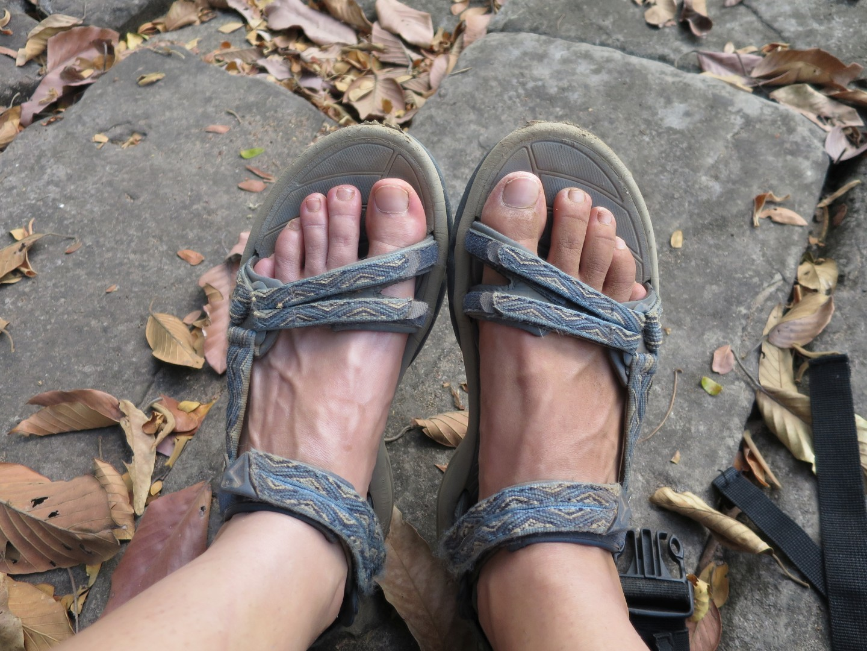 Leva očiščena noga in desna prašna.